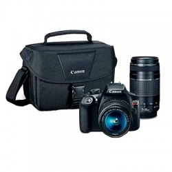 Canon T6 con lente 18-55, 75-300 y maletin